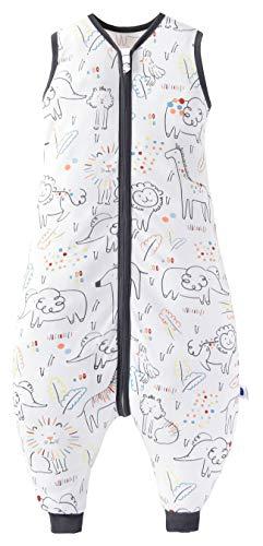 Chilsuessy Baby Schlafsack Sommer mit Füßen 0.5 Tog 100% Baumwolle Kinder Sommerschlafsack für Jungen und...