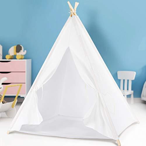 Peradix Tipi Spielzelt für Kinder Mädchen Teepee Indianerzelt Prinzessinnenschloss Kinderzelt mit...