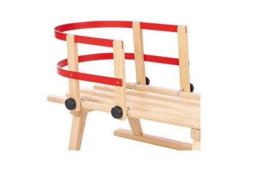 Pinolino Rückenlehne aus Holz und Kunststoff, passend für Pinolino Schlitten, max. Belastung 20 kg, für...