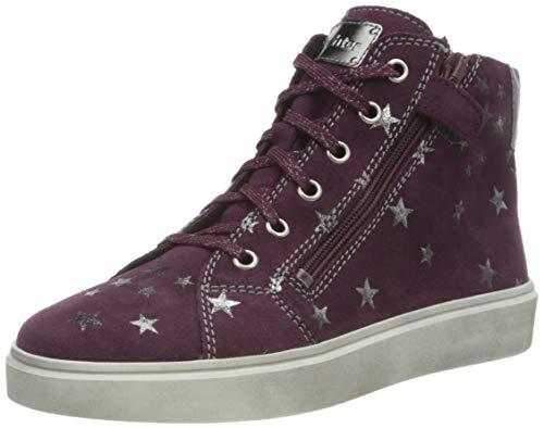Richter Kinderschuhe Flora 3762-8121 Sneaker, 7500blackberry/silver, 35 EU