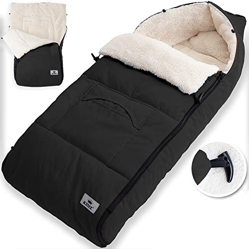 KIDIZ® Babyfußsack Baby Fußsack Winterfußsack Babyschale mit Reißverschluss Kuschelsack Babydecke...