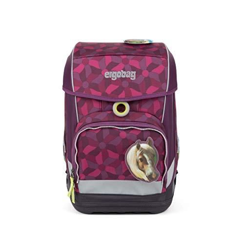 Ergobag cubo Light, NachtschwärmBär, ergonomischer Schulrucksack, extra leicht, Set 5-teilig, 780 g, 19...