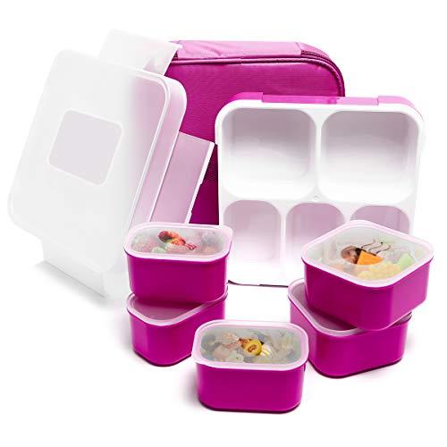 Fun Life Bento Box, Lunch Box mit 5 Fächern, Kinder Brotdose, BPA-frei, auslaufsicherer Behälter Deckel für...