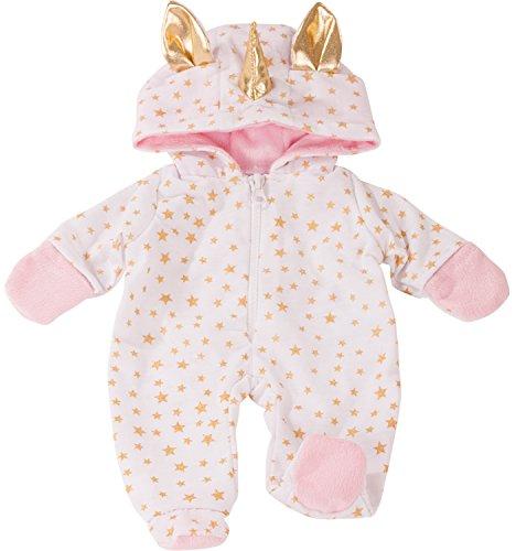 Götz 3402912 Onesie Einhorn - Einteiliger Puppen-Overall Puppenbekleidung Gr. S - Bekleidungs- und...