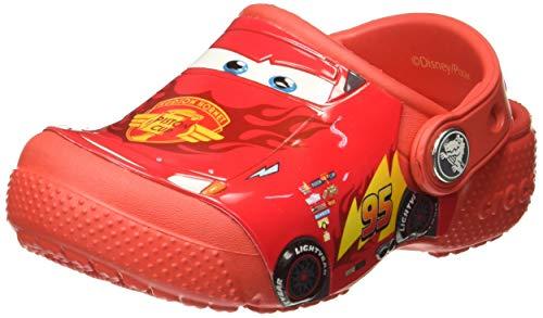 Crocs Fun Lab Cars Clog Kids, Jungen Clogs, Rot (Flame), 27/28 EU