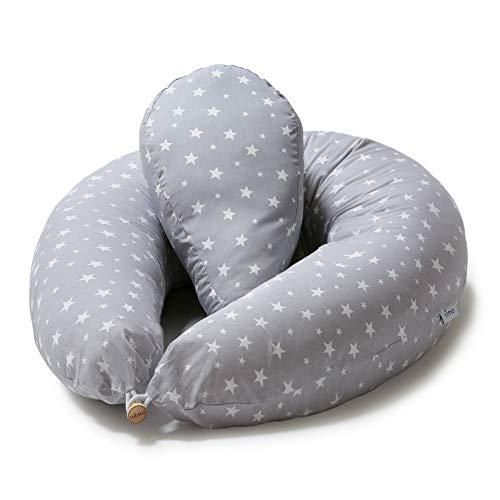 Niimo Stillkissen Seitenschläferkissen Schwangerschaftskissen mit Klein Kissen zum Schlafen Lagerungskissen...