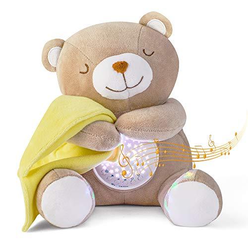 APUNOL Einschlafhilfe Babys Musik und Licht, Babys Nachtlicht Projektor Wiederaufladbar kinder Babyparty...