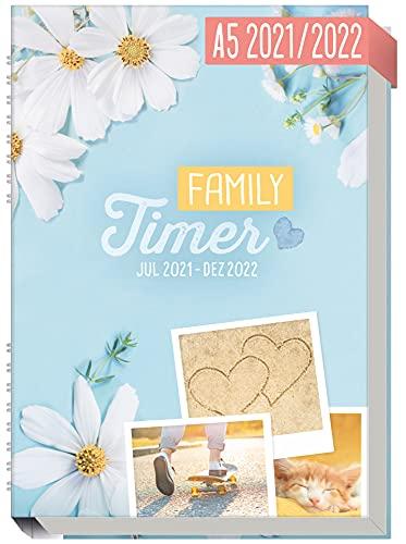 Family-Timer 2021/2022 A5 [Good Times] Der Familien-Kalender! 18 Monate: Juli 21 bis Dezember 22 |...
