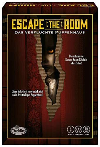 Ravensburger ThinkFun Escape the Room 3 Das verfluchte Puppenhaus, Ratespiel, Suchspiel, Partyspiel, 76371