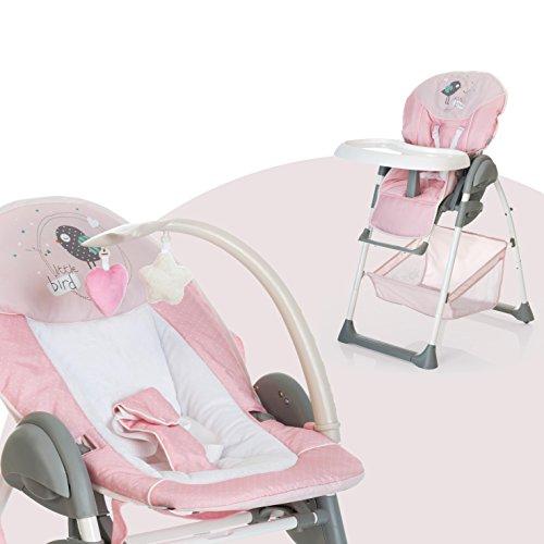 Hauck Mitwachsender Hochstuhl Sit N Relax / Neugeborenen Aufsatz ab Geburt bis 9 kg / Kinder Sitz bis 15 kg /...