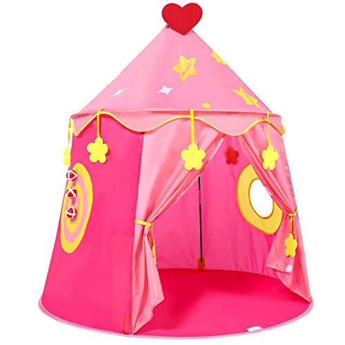 Peradix Spielzelt Prinzenschloss Zelt für Jungs Kleinkinder Pop-up Indianerzelt mit Tragetasche, Geschenk...