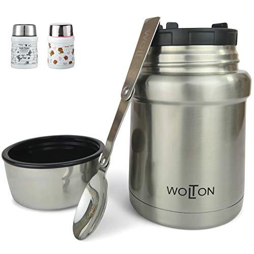 Wenburg Thermobehälter/Isolierbehälter Wolton - 450 ml I Premium Speisebehälter mit Löffel, für Essen,...