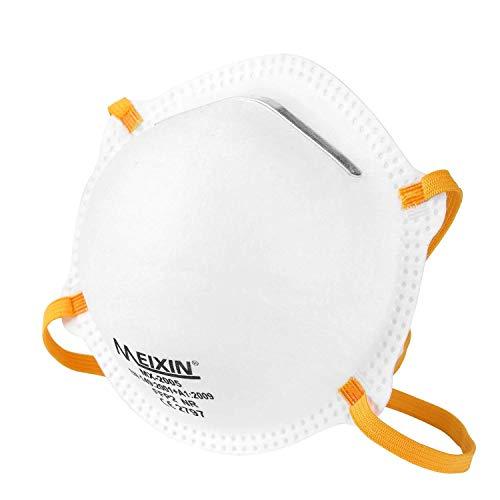 Meixin Atemschutzmaske FFP2 im 5er Set mit CE-Zertifikat – Hochwertige Atemmaske – Perfekt anpassbare...