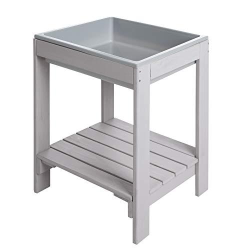 roba Kinder Spieltisch 'Tiny' Outdoor +, wetterfester Massivholz Matschtisch, grau
