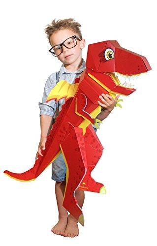 Patentierte Schultüte - Dino Schulrex - 100cm - Dinosaurier T Rex Tyrannosaurus Rex - Stehende Schultüte -...