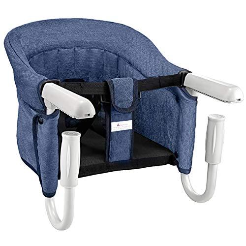 Mosbaby Babysitz Tischsitz, Faltbarer Babystuhl Hochstuhl für Esstisch, Rutschfester Babysitz zum Befestigen...