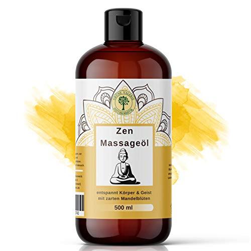 Zen Massageöl 500 ML mit süßen Mandeln | XXL von Grüne Valerie| Entspannt den Geist und beruhigt die...