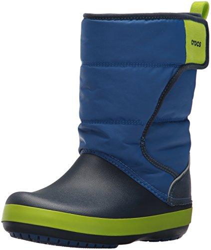 Crocs Unisex-Kinder LodgePoint Snow Boot K Schneestiefel, Blue (Blue Jean/Navy), 36/37
