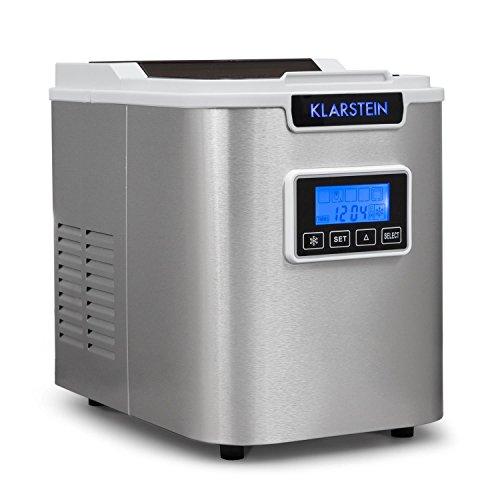 Klarstein Icemeister - Eiswürfelmaschine, Eiswürfelbereiter, Ice Maker, 12kg / 24h, 3 Würfelgrößen,...