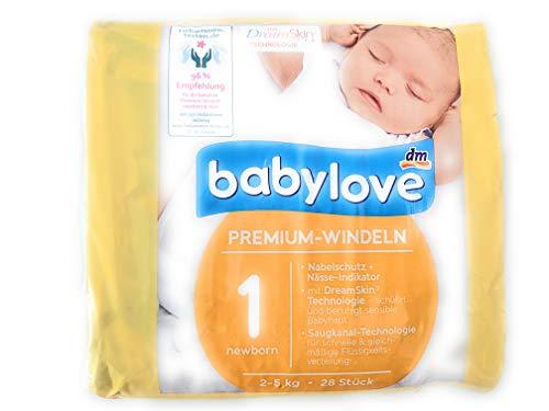 babylove Windeln Premium extra weich Größe 1, newborn 2-5kg, 1 x 28 St