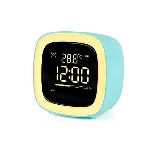 Wecker Digitaler Kinder,Niedliches Nachtlicht Lichtwecker Design mit Countdown/Snooze/Timer Licht/4...