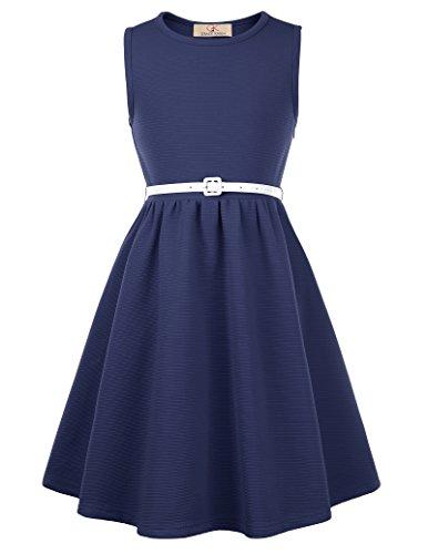 Fashion Audrey Hepburn Rockabilly Kleid 7-8 Jahre CL10482-2