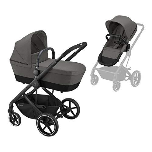 CYBEX Balios S 2-in-1 Kinderwagen, Einhand-Faltmechanismus, Ab Geburt bis 22 kg (ca. 4 Jahre), Soho Grey mit...