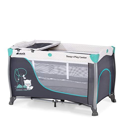 Hauck Sleep N Play Center 3, Reisebett 7-teilig ab Geburt bis 15 kg, faltbar und kippsicher, Neugeborenen...