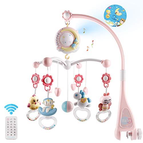 Mini Tudou Baby Musik Crib Mobile Babybett mit Timing-Funktion Projektor und Lichtern, hängenden rotierenden...