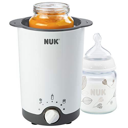 NUK Thermo 3 in 1 Flaschenwärmer, zum einfachen, sicheren und schonenden Erwärmen, Auftauen und Warmhalten,...