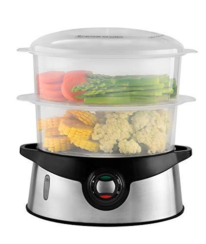 Venga! 2-in-1-Dampfgarer inkl. Dampfgarereinsatz für Reis, 9 Liter Inhalt, 45-Minuten-Timer, 800 W,...