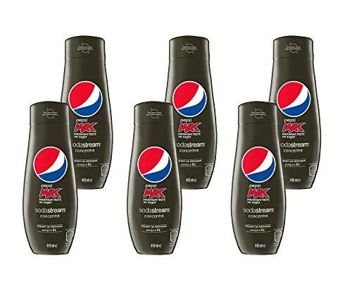 SodaStream Sirup Pepsi Max - 1x Flasche ergibt 9 Liter Fertiggetränk, Sekundenschnell zubereitet und immer...