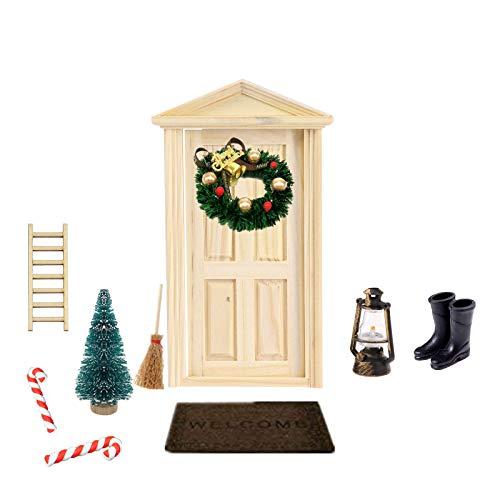 Super Idee Wichteltür Weihnachten Set Miniatur Wichtel Set Wichtel Tür Nissedor mit Zubehör Stiefel Laterne...