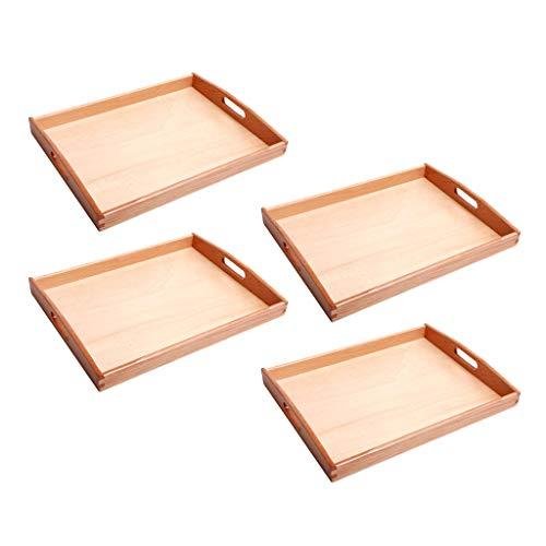 LOVIVER 4 Stück / Set Montessori Tabletts Perlen Kinderspielzeug Aufbewahrungshalter Für Den Frühen...
