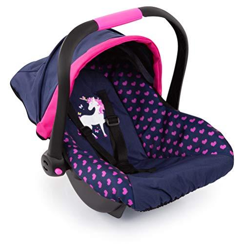 Bayer Design 67954AA Puppen-Autositz EasyGo, Puppenzubehör, passend zu Vario-Puppenwagen, mit Abdeckung, blau...