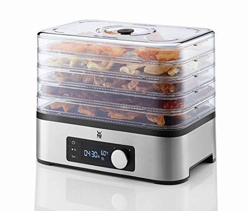 WMF Küchenminis Dörrautomat Edelstahl, Dörrgerät mit 5 Einlegefächer, 30-70°C, 24h-Timer, Obsttrockner,...