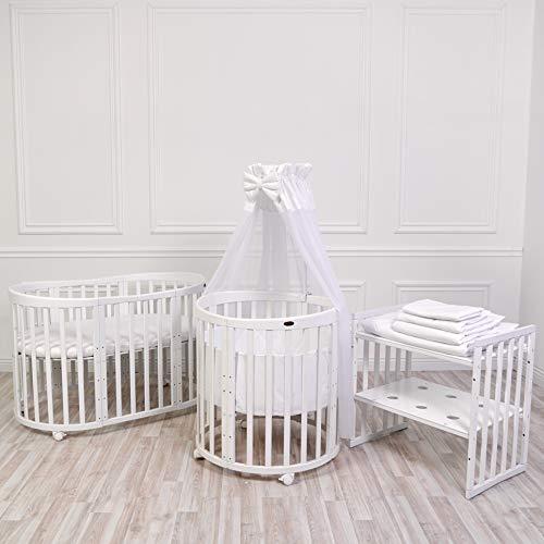 COMFORTBABY® SmartGrow 7in1™ Weiss Komplett 12-teilig Set Weiß, Kinderbett Set, Laufgitter, Beistellbett,...