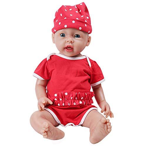 IVITA Ganzkörper-Silikon Reborn Babypuppe realistisch neugeborenes Baby Doll echte Baby Doll handgemachte...