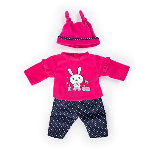 Bayer Design 84679AA Puppenkleidung für 40-46cm Puppen, Hose, Oberteil Und Mütze, Set, Outfit mit Hasen,...