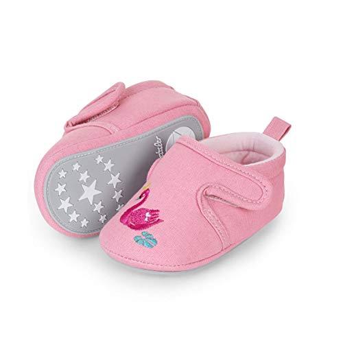 Sterntaler Baby-Krabbelschuhe für Mädchen, Rutschfeste Sohle, Klettverschluss, Schwanmotiv, Farbe: Rosa,...