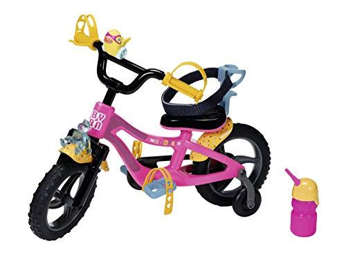 Zapf Creation 830024 BABY born Fahrrad- pinkes Puppenfahrrad für 43 cm Puppen mit gelben Schutzblechen,...