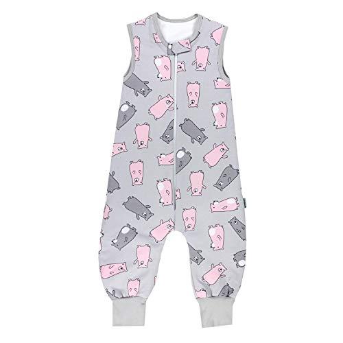 TupTam Baby Unisex Winter Schlafsack mit Beinen, Farbe: Sterne Rosa/Grau, Größe: 92-98