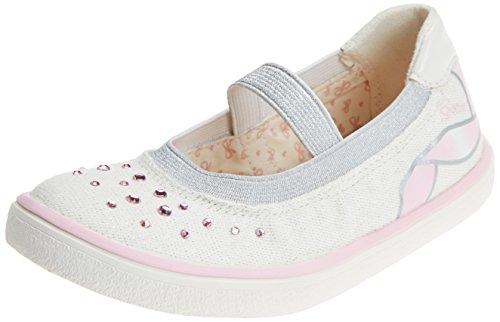 Geox Mädchen J Kilwi Girl K Geschlossene Ballerinas, Weiß (White/Lt Pink), 30 EU