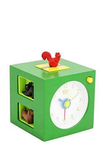 KOOKOO KidsAlarm Grün, Kinderwecker mit 5 Bauernhoftieren und echten Aufnahmen
