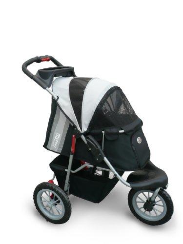 Haustierbuggy IPS-070 schwarz/silber Hundetrage Trolley Innopet Comfort EFA Buggy Faltbarer Haustierbuggy...
