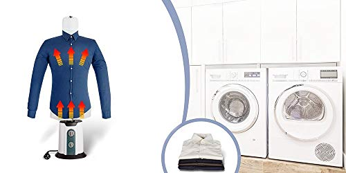 TECHNOSMART 850W Automatische Trocken- und Bügelmaschine für Hemden und Blusen, XS bis XXL Hemdenbügler...