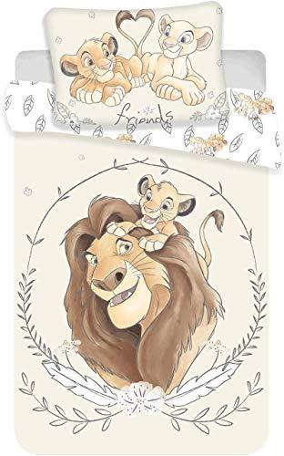 Disney König der Löwen Simba Mufasa Baby Bettwäsche Kopfkissen Bettdecke 100% Baumwolle 100x135 cm