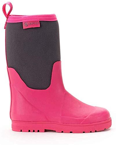 Aigle Unisex-Kinder Woody Cross Gummistiefel, Pink (New Rose/Charcoal 001), 38 EU