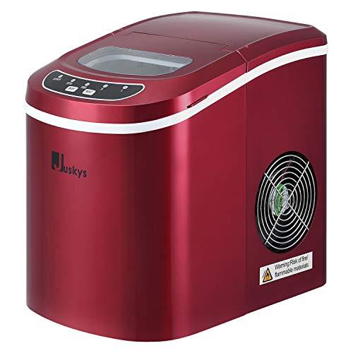 Juskys Eiswürfelmaschine IcyCube - 12 kg / 24 Std. – Eiswürfel in 7-13 min - Eiswürfelbereiter 100 Watt...