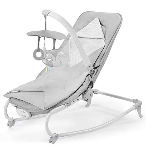 Kinderkraft Babywippe FELIO 2020 3 in 1, Babywippe, Babyliege, Babyschaukel, Wippe, Schaukel, Babytuch mit...